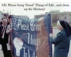 IASJ spoke at the 1998 GE annual meeting, asking the company to clean up the Hudson River